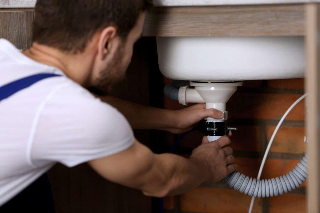plumber repairing  pipes replasement